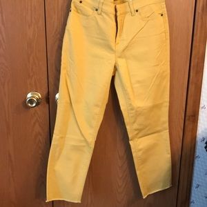 Talbots NWT Slim Ankle Jeans Yellow Gold
